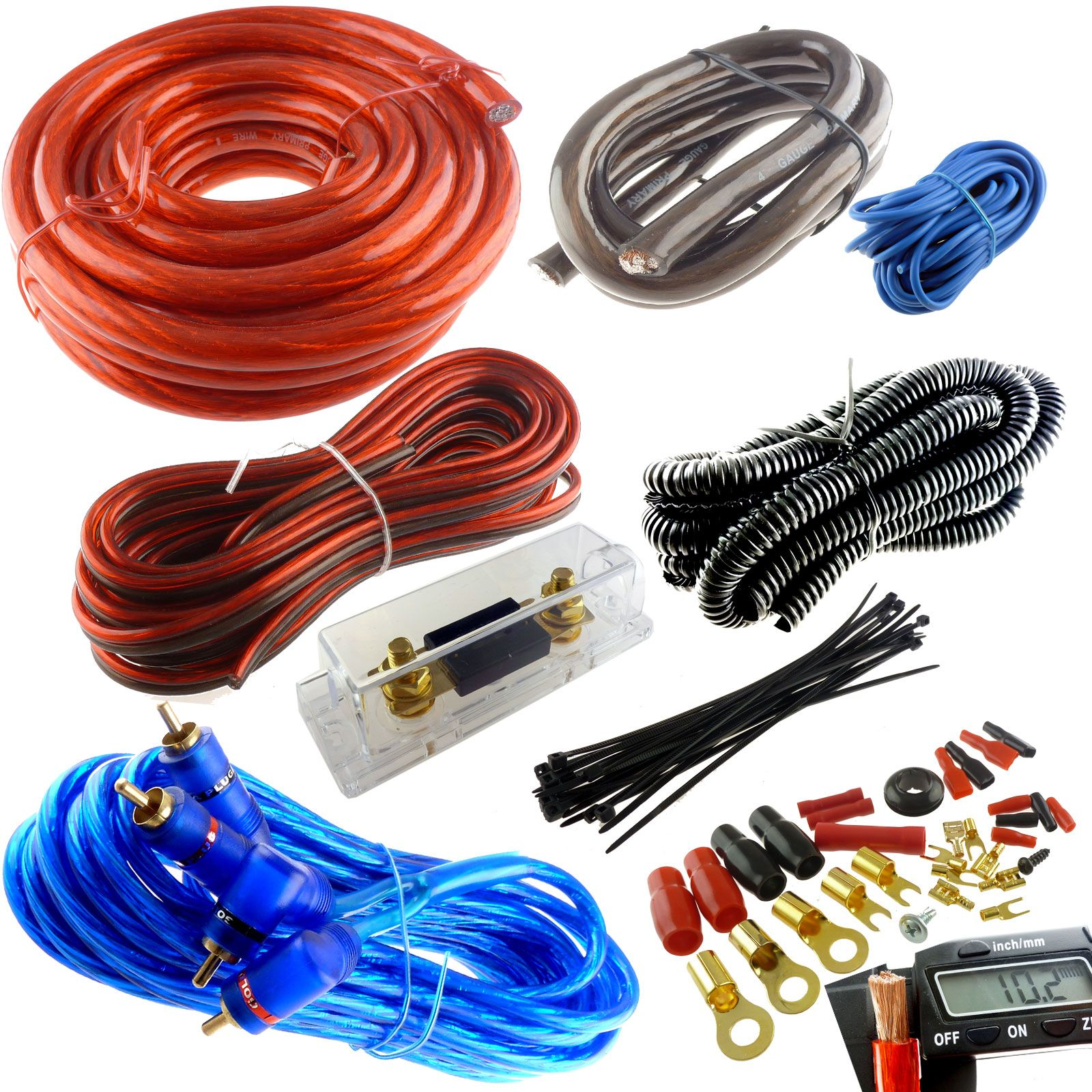 4 gauge premium red power wire wiring kit 3000w install