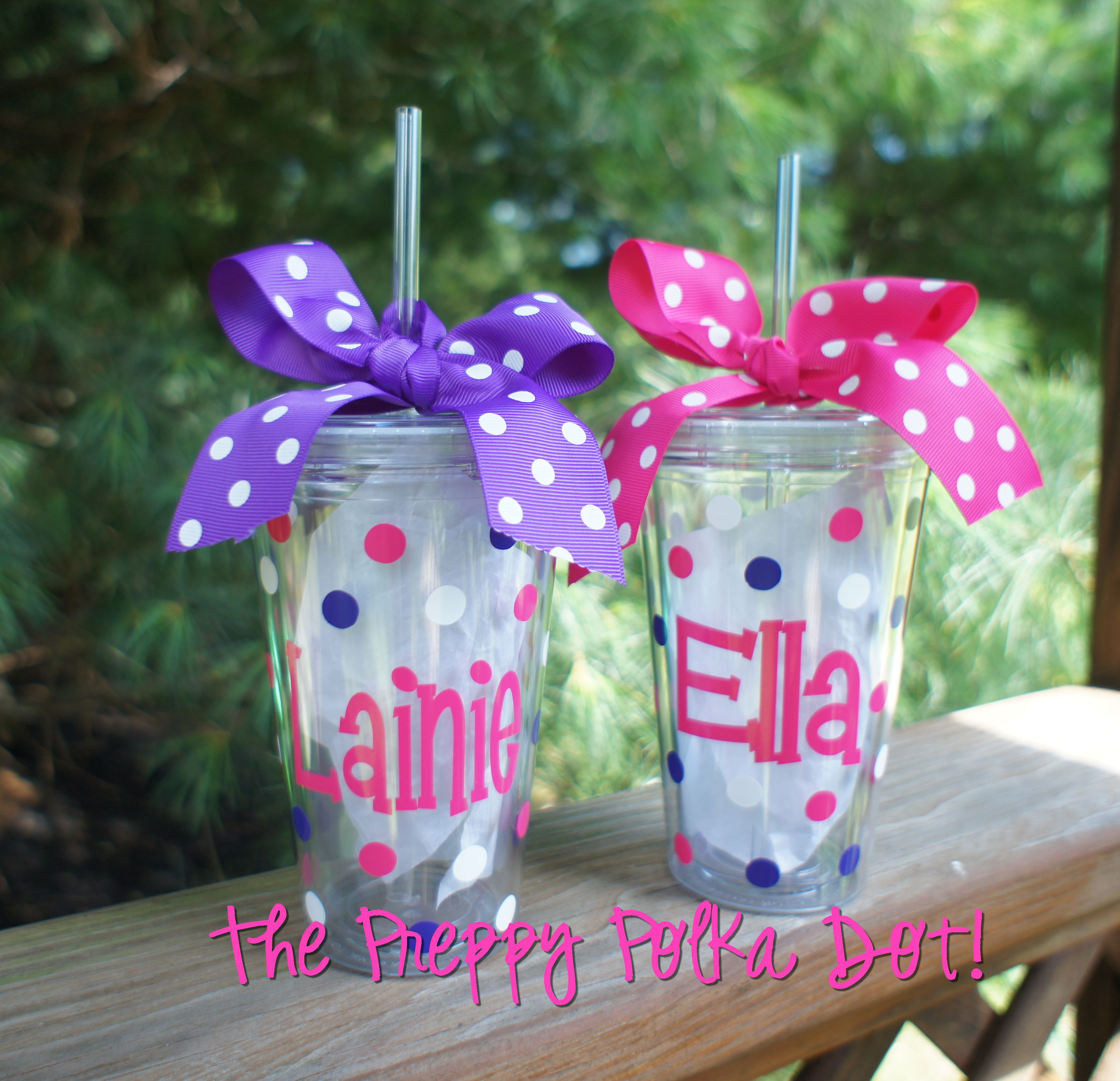 Clear Personalized Tumbler Cup With Lid Amp Straw 16oz