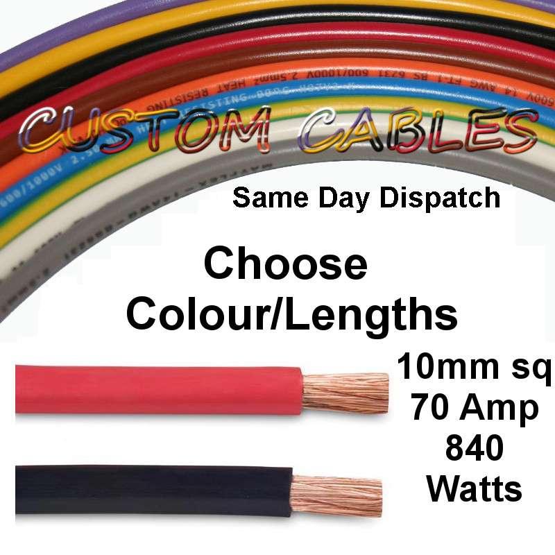 La Foto Se Est Cargando 10mm Sq 70 Amp Battery Cable For 12v
