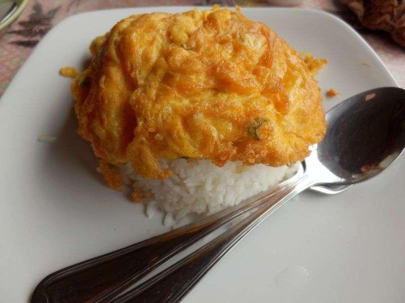 Thai Omelett mit Reis