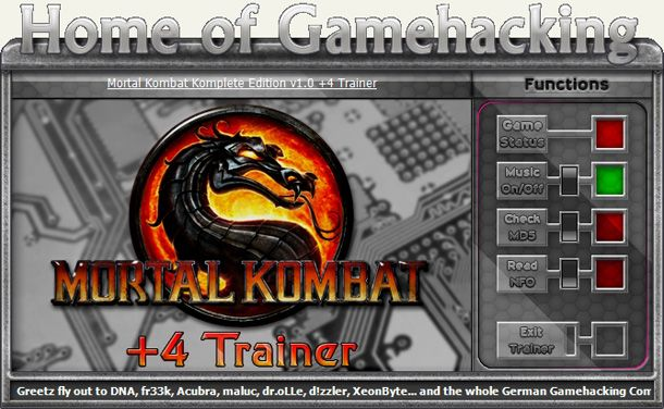 Mortal Kombat: Komplete Edition v1.0 +4 Trainer [HoG]